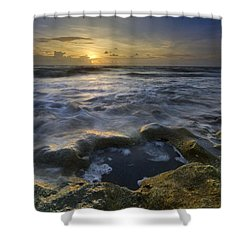 Song Of The Sea Shower Curtain by Debra and Dave Vanderlaan