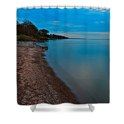Soothing Shoreline Shower Curtain by Frozen in Time Fine Art Photography