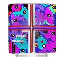 South Beach Miami  Shower Curtain by Robert Margetts