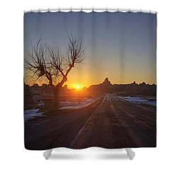 South Dakota Badlands Shower Curtain by Mark Duffy