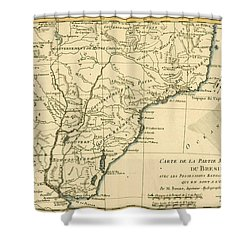 Southern Brazil Shower Curtain by Guillaume Raynal