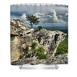 Sparse Vegetation Shower Curtain by Adam Jewell