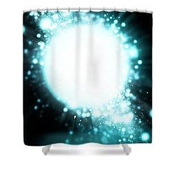 Sphere Lighting Shower Curtain by Setsiri Silapasuwanchai