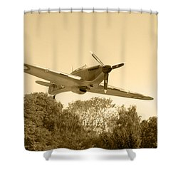 Spitfire Shower Curtain by Chris Day