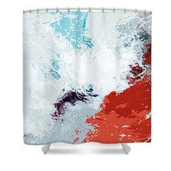 Splash Shower Curtain by Glennis Siverson