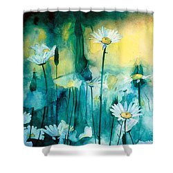 Splash Of Daisies Shower Curtain by Cyndi Brewer