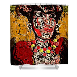 Splashy Lady Shower Curtain by Natalie Holland