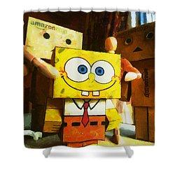 Spongebob Always Loves The Group Hugs Shower Curtain by Steve Taylor