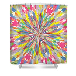 Spring Is Bursting Out Shower Curtain by Alec Drake