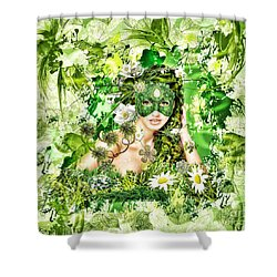Spring Shower Curtain by Mo T