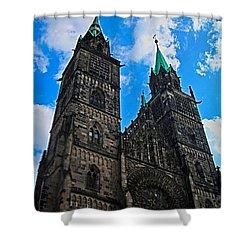 St. Lorenz Church - Nuremberg Shower Curtain by Juergen Weiss