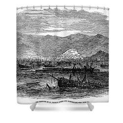 St. Thomas: Earthquake Shower Curtain by Granger