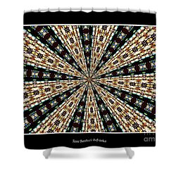 Stained Glass Kaleidoscope 39 Shower Curtain by Rose Santuci-Sofranko