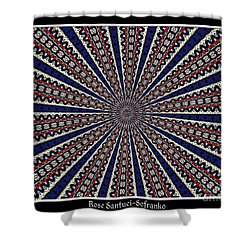 Stained Glass Kaleidoscope 49 Shower Curtain by Rose Santuci-Sofranko