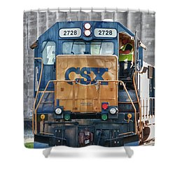 Stalled 7141 Shower Curtain by Guy Whiteley