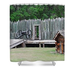 Standing Ready Shower Curtain by Judy Hall-Folde