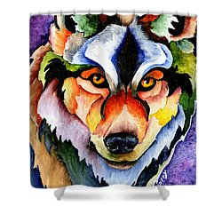 Stare Down Shower Curtain by Sherry Shipley