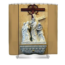 Station Of The Cross 04 Shower Curtain by Thomas Woolworth