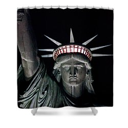 Statue Of Liberty Shower Curtain by David Pringle