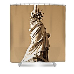 Statue Of Liberty Shower Curtain by Syed Aqueel