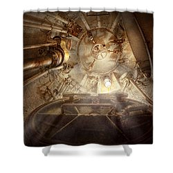 Steampunk - Naval - The Escape Hatch Shower Curtain by Mike Savad