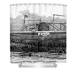 Steamship Launch, 1876 Shower Curtain by Granger