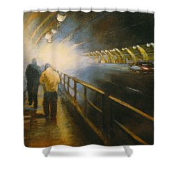 Stockton Tunnel Shower Curtain by Meg Biddle