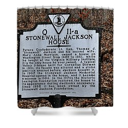 Stonewall Jackson House Shower Curtain by Todd Hostetter