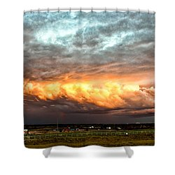 Storm Glow Shower Curtain by Christopher Holmes