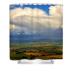 Storm Over The Kittitas Valley Shower Curtain by Mike  Dawson