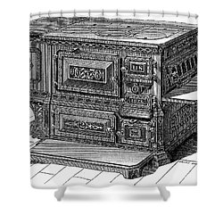 Stove, 1876 Shower Curtain by Granger