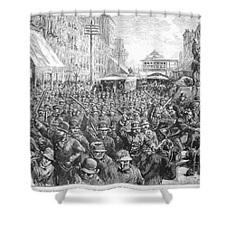 Street Car Strike, 1886 Shower Curtain by Granger