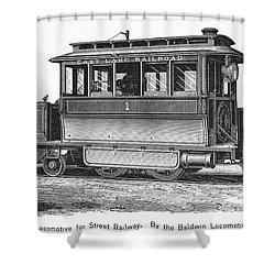 Street Locomotive, C1870 Shower Curtain by Granger