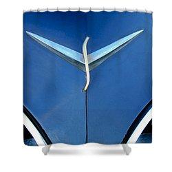 Studebaker Hood Emblem Shower Curtain by Jill Reger