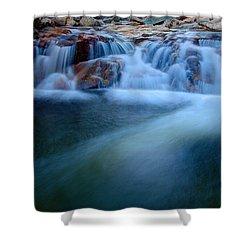 Summer Cascade Shower Curtain by Chad Dutson