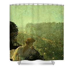 Summer Evening In Paris Shower Curtain by Childe Hassam