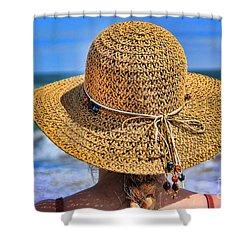 Summertime Shower Curtain by Mariola Bitner