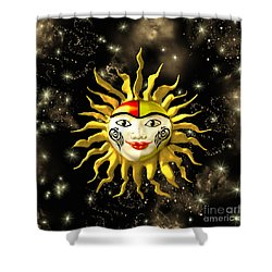 Sun Face  Shower Curtain by Methune Hively
