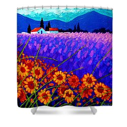 Sunflower Vista Shower Curtain by John  Nolan