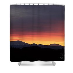 Sunrise 3 Shower Curtain by Chalet Roome-Rigdon