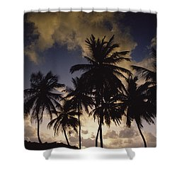 Sunrise At La Sagesse Bay Over Marquis Shower Curtain by Gerry Ellis