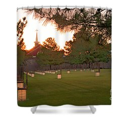Sunrise At The Alfred P Murrah Memorial II Shower Curtain by Tamyra Ayles