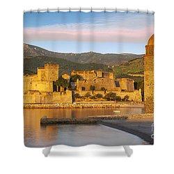 Sunrise In Collioure Shower Curtain by Brian Jannsen