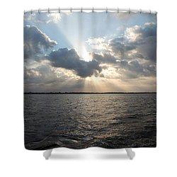 Sunrise Over Keaton Beach Shower Curtain by Marilyn Holkham