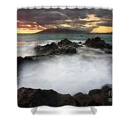 Sunset Boil Shower Curtain by Mike  Dawson