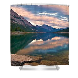 Sunset Over Medicine Lake Shower Curtain by James Steinberg and Photo Researchers