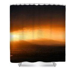 Sunset Over Salt Lake City Shower Curtain by Kristin Elmquist