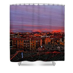 Sunset Over Segovia ... Shower Curtain by Juergen Weiss