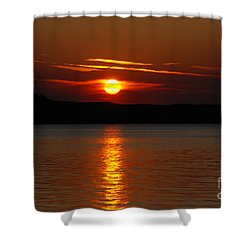 Sunset Over Silver Lake Sand Dunes Shower Curtain by Grace Grogan