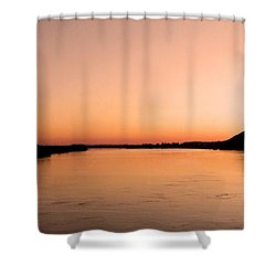 Sunset Over The Danube ... Shower Curtain by Juergen Weiss